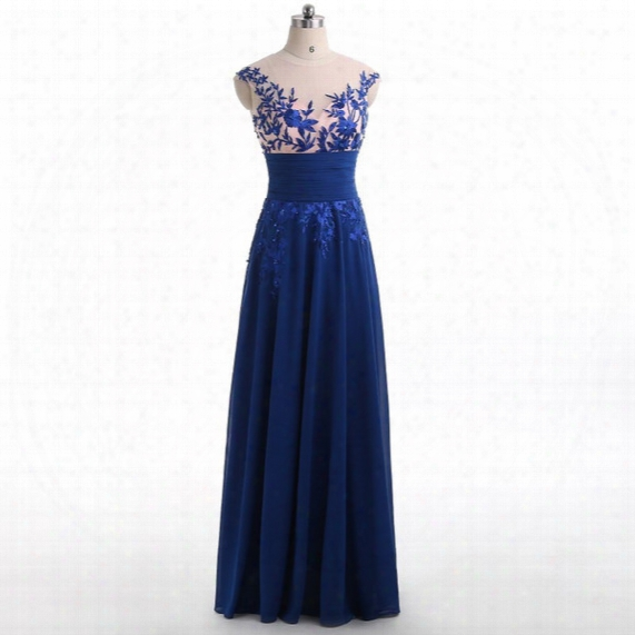 Royal Blue Backless Prom Dresses 2017 Elegant Party Long Sexy Red Carpet Cheap Stock Chiffon Backless Formal Evening Gowns For Women Wear