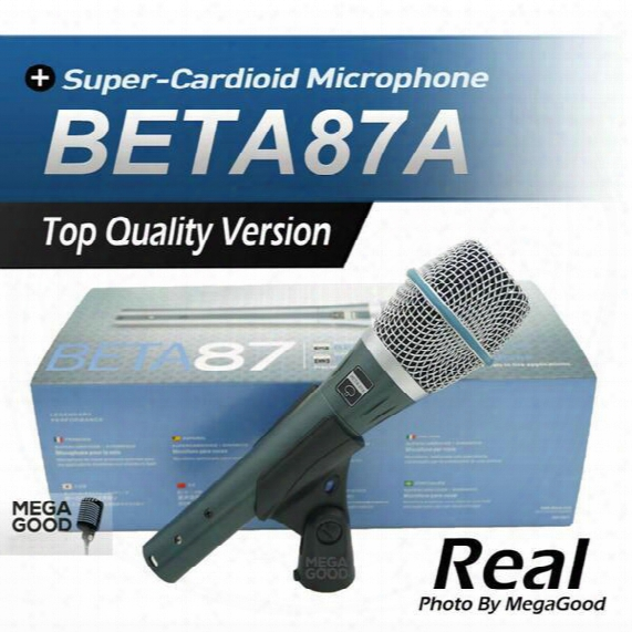 Sale Free Shipping! Real Condenser Microphone Beta87a Top Quality Beta 87a Supercardioid Vocal Karaoke Handheld Microfone Mike Mic