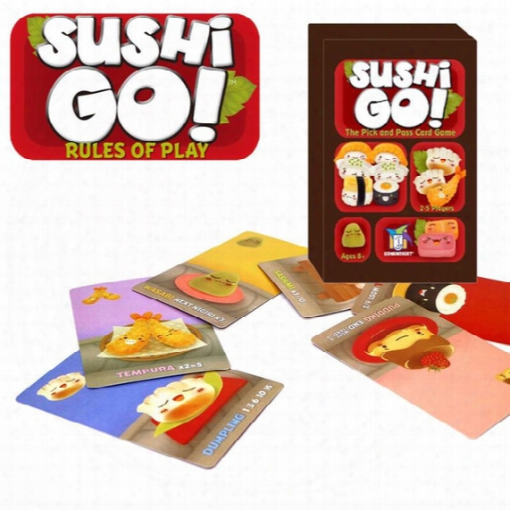 Sushi Go! Board Game The Pick And Pass Cards Game 2-5 Players Family Game For Children Trading Card Games B1306