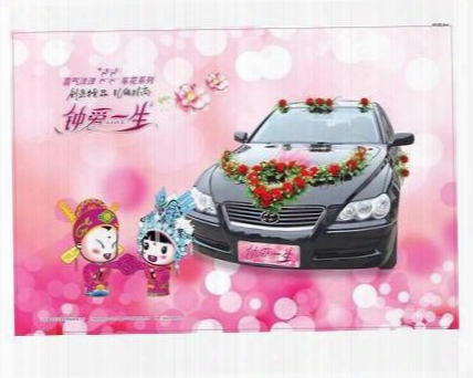The New 2016 Wedding Wedding Supplies Zhuhun Car Decoration Package Floats Simulation Front Flower Arrangement Free Shipping Wholesale