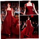 2014 Elie Saab Red carpet Straps A line Full length Burgundy Sexy formal evening dresses Hot sale Party gowns Celebrity dress party gowns