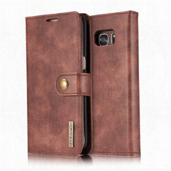 Wallet Case For Samsung Galaxy S7 S7 Edge Genuine Leather Purse 2 In 1 Detachable Multifunction Wallet Flip Wallet With Card Slots