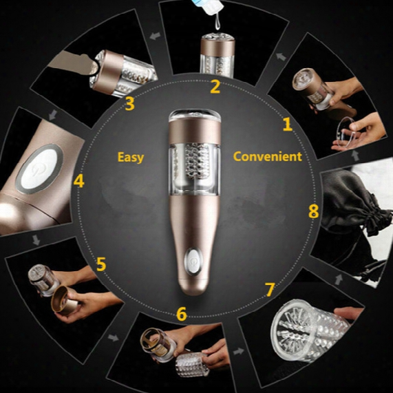 Wholesale-male Automatic Masturbator Machine,telescopic Rotation Masturbation Cup,sex Vagina Anal Masturbator For Man Erotico Toy