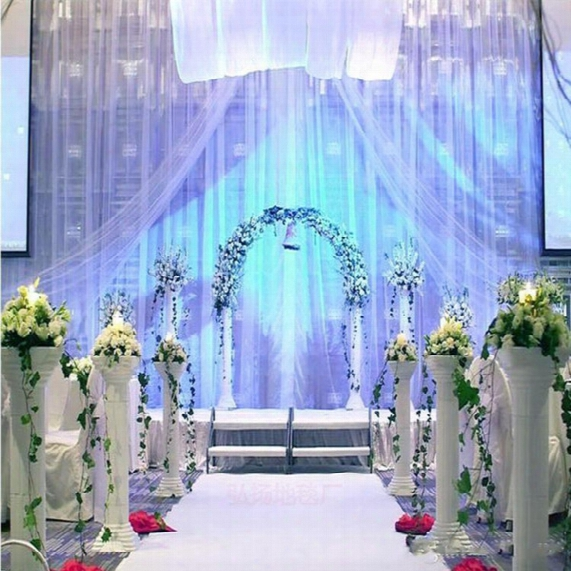 10m Per Lot 1m Wide Shine White Nonwoven Carpet Aisle Runner For Wedding Party Backdrop Centerpieces Decorations Supplies