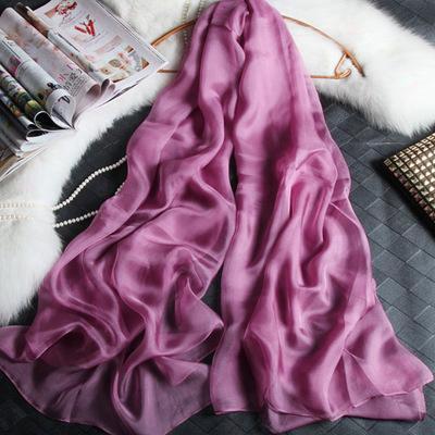 180cm*110cm Silk Chiffon Scarf Long And Big Scarf Thin And Soft
