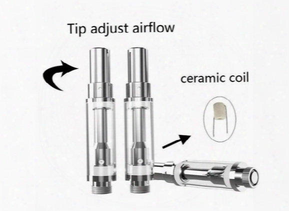 2017 Bbtank G3,v2 Co2 Ceramic Coil Glass Metal Cartridges Tank Glass Vaporizer Oil Atomizer 0.5ml Open Vape 510 Wickless Cartridge