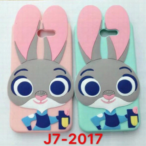 3d Cartoon Cute Judy Animals Rabbit Soft Silicone Case For Iphone 7 Plus 6 6s 5s Se Samsung S8 Plus A3 A5 A7 J3 J5 J7 2017