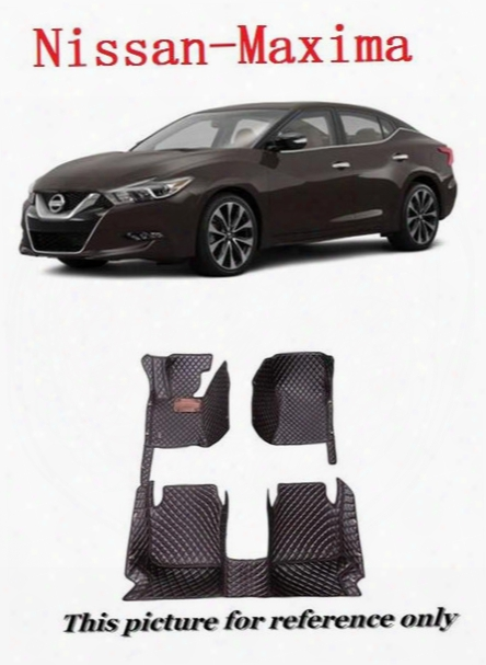 Car Floor Mats For Nissan Maxima All Weather Carpets Custom Fits-black Left-hand-driver-model