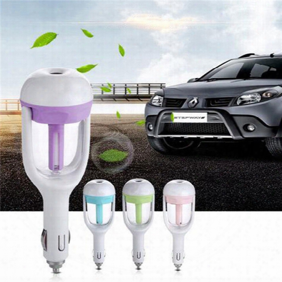 Car Plug Humidifier Fresh Refreshing Fragrance Ehicular Essential Oil Ultrasonic Humidifier 4colors Aromatherapy Aroma Air Purifier 0703087