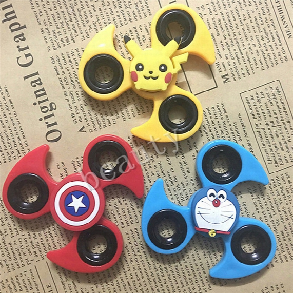 Cute Cartoon Hand Spinner Fidget Toys Edc Tri-spinner Finger Funny Tips Kawaii Pikachu Iron Man Hand Spinner Anti Stress For Children Hfa094