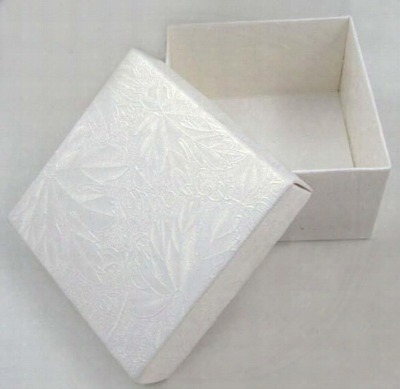 Diy Cardboard Folded Candy Box Party Favor Package - 6.5 X 6.5 X 3.8cm White 100pcs/lot Lwb0157b Free Shipping