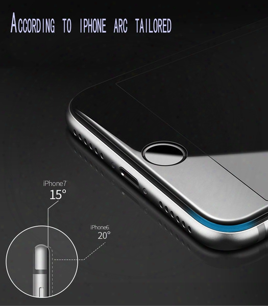 For Iphone 6 Plus Tempered Glass Film Protective Film 3d Soft Side Carbon Fiber Full Screen For Iphone6s 7 8