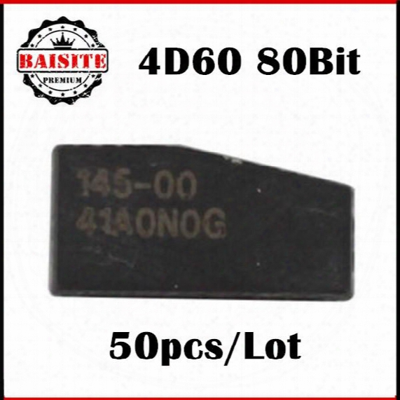 Good Feedback 50pcs/lot 4d60 Transponder Chip 4d60 Transponder Chip Carbon Blank Chip For 4d 60 Carbon T-ransponder C-hip With Best Price