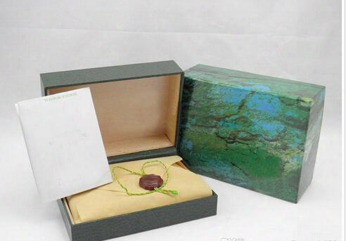 Hot Sell Green Box For Luxury Brand Watch With Booklet Card Tags