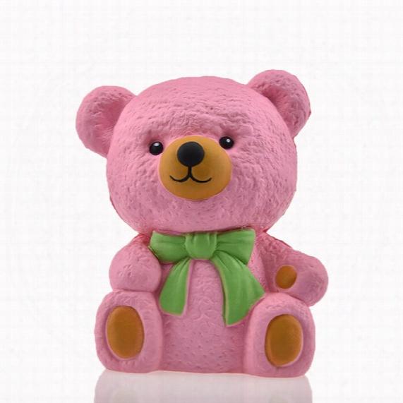 Kawaii Cartoon Bear Squishy Slow Rising Jumbo Rilakkuma Soft Cream Scented Bread Cake Strap Kid Fun Toy Gift