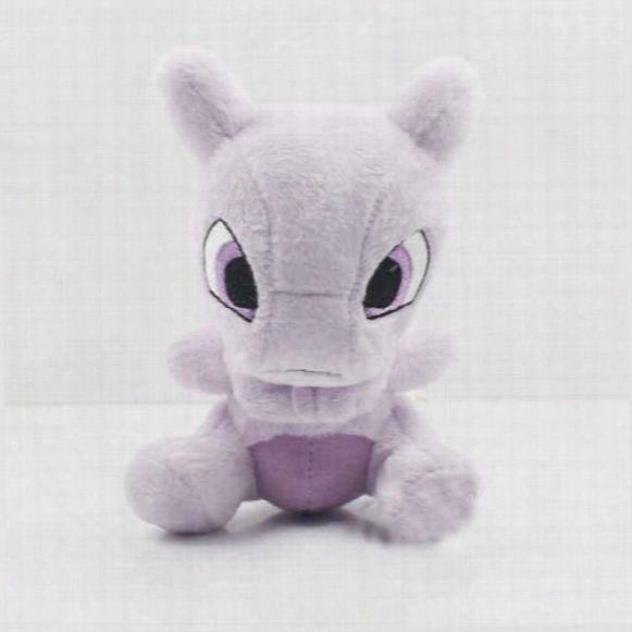 Plush Doll Toys Mewtwo Stuffed Soft Plush Doll Toys Pocket Monster Stuffed Cartoon Animal Figure Toys Xmas Gifts Ems 14cm (5.5inch) Wx-t58