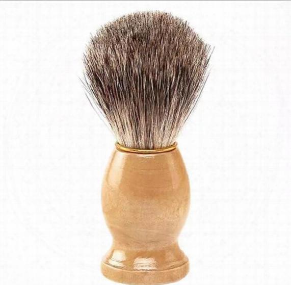 Professional Barber Hair Shaving Razor Brushes New Wood Handle Badger Hair Shaving Brush For Best Men Gift Barber Tool Mens Face Care