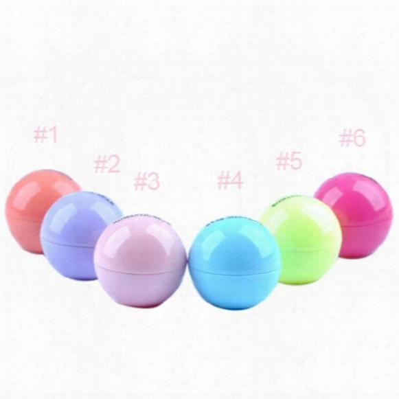 Round Ball 3d Lipstick Makeup Moisturizing Lip Balm Natural Plant Sphere Lip Pomade Lip Balm Fruit Embellish Lip Care