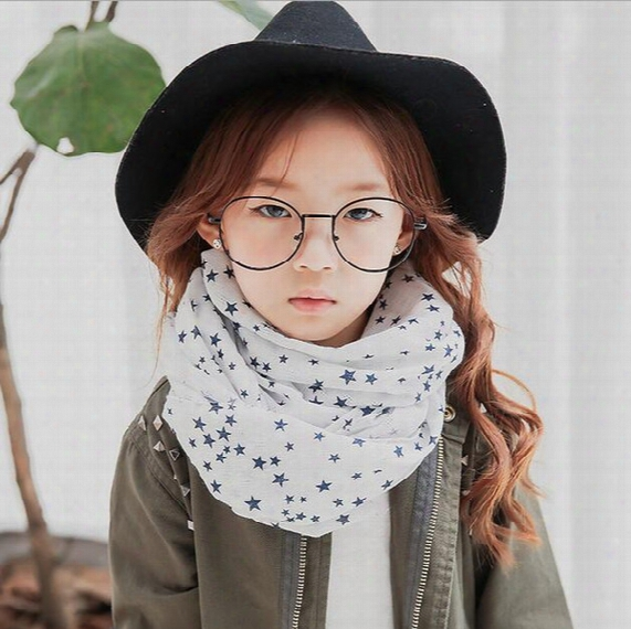 Spring New Fashion Stars Girls Scarves Kid Girl Stylish Pashmina Kids Scarf Baby Scarfs Designer Child Shawls Dhl Free Shipping Ck326