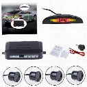 10pcs/lot via DHL car LED Parking Sensor With 4 Sensors car Reverse Backup Car Parking Radar Monitor Detector System Backlight Display