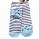 2016 Newly Design Cute Cartoon cat woman socks Socks Striped Pattern Women Cotton Sock Winter Free Shipping DHL