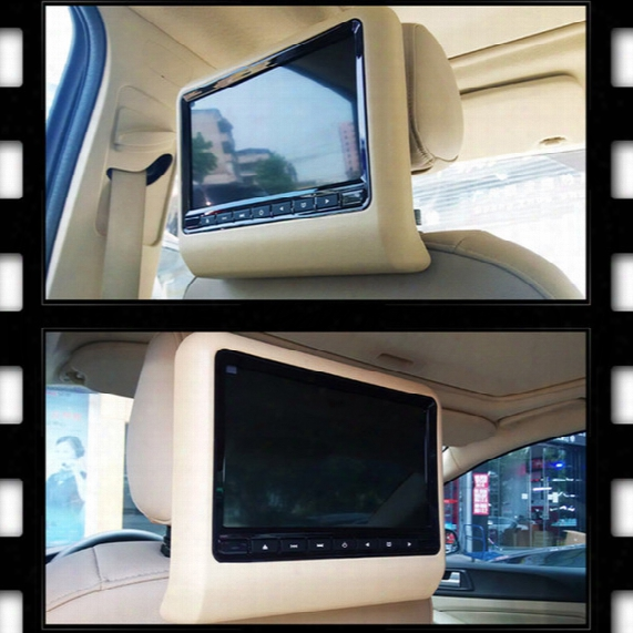 Universal 9 Inch Car Dvd Player Clip-on Headrest Support Mp4/dvd/vcd/cd/mp3 Wireless Games Remote Control