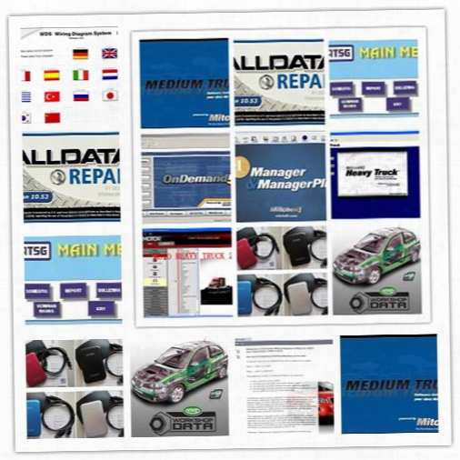V10.53 Newest Alldata And Mitchell Demand Auto Repair Software 47in1 1000gb Hdd Esi + Etka + Atsg + Vivid Workshop +elsa +mitchell Manger