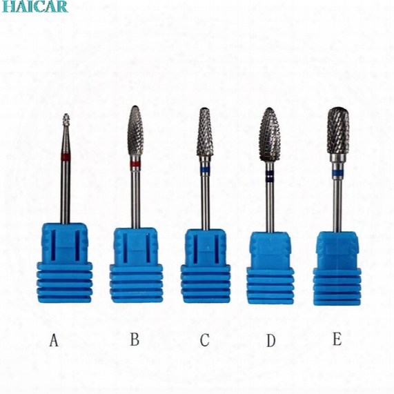 Wholesale- 2017 Nail At Manicure Pedicure Tools New Design Carbide Nail Drill Bit Carbide Drill High Quality Feb15