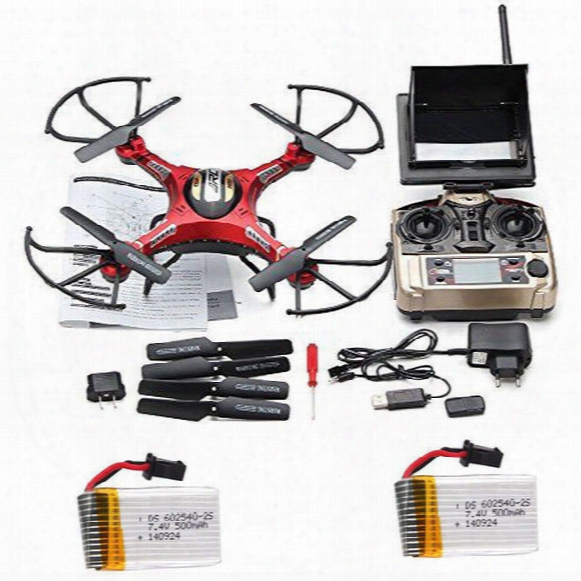Wholesale- Free Shipping! Jjrc H8d Real-time Fpv Rc Quadcopter Drone W/hd Camera + 2 Extra Battery