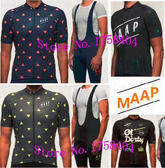 Wholesale-photo Color Maap Cycling Jersey Mne's Team Bike Bicycle Clothing Ropa Ciclismo Maillot Bicicleta Short Bib / Sizes Can Be