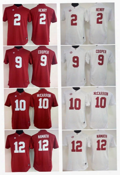 2017 Cheap Wholesale 2016 Womens 12 Namat 10 Mccarron 2 Henry 9 Cooper Stitched Ncaa College Alabama Crimson Tide White Red Football Jerseys