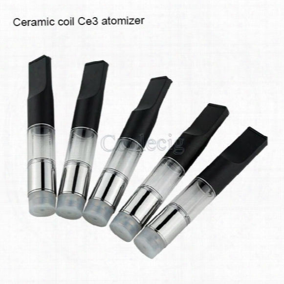 2017 Newest Item Clear Ceramic Coil Ce3 Disposable Vape Atomizer 510 Oil Vaporizer Cartridge Bud Atomizer .5ml 1ml Vape Tank