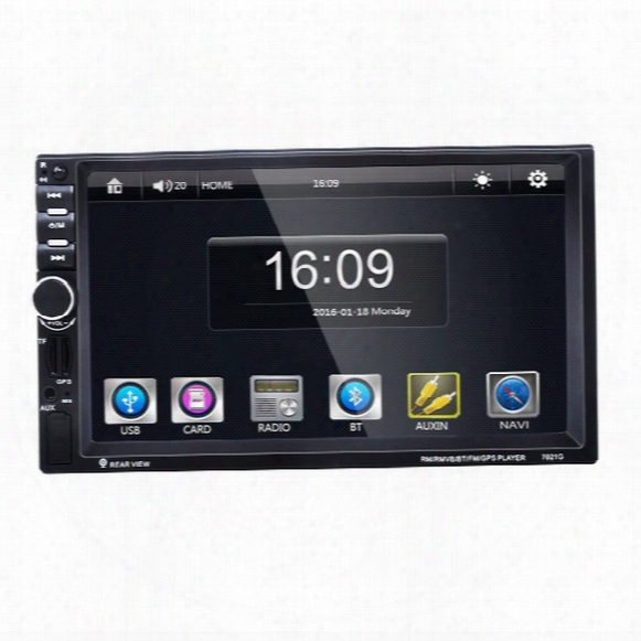 7'' Car Audio Gps Navigation Player For Universal With Mp5 Stereo Radio Rearview Backup Bluetooth Handsfree