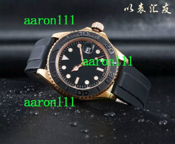 Casual Brand Automatic Luxury Men Sports Wristwatch Rose Gold Rubber Bracelet Stainless Date Modern Mens Fashion Mechanical Watch Best Gift