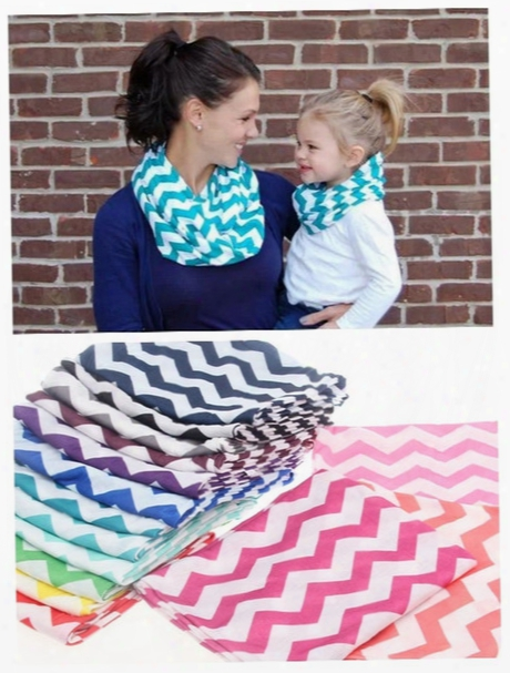 Chevron Zig Zag Stripe Jersey Knit Infinity Cowl Scarf Cotton Scarves Knit Striped Scarf Cotton Neckerchief 180*25cm Free Shipping