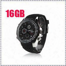 Free Shipping V6000 16gb Full Hd 1920*1080p V6000 Ir Night Vision Spy Dvr Waterproof Spy Watch Camera With Motion Detection Support Tf Card
