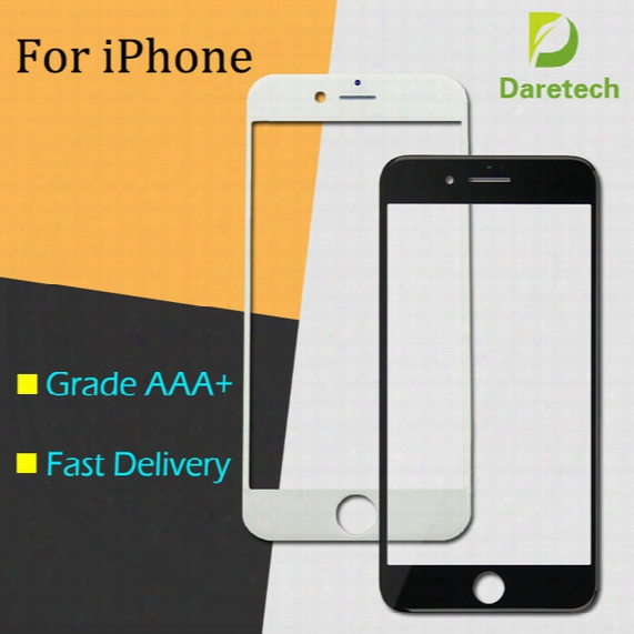 Front Outer Touch Screen Glass Lens Replacement For Iphone 5 6 Plus 6s 6s Plus 7 Plus Free Dhl(mix Color)