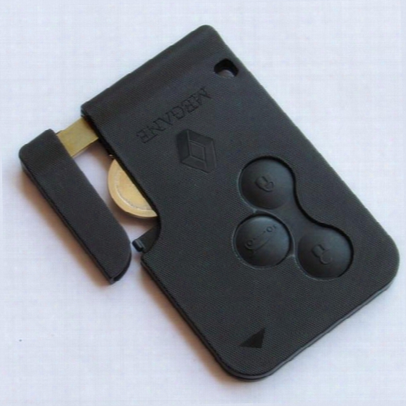 High Quality!!!!new Renault Megane Scenic Ii Clio Etc Rf Type 3 Button Remote Alarm Key Fob Card 433mhz 7947chip