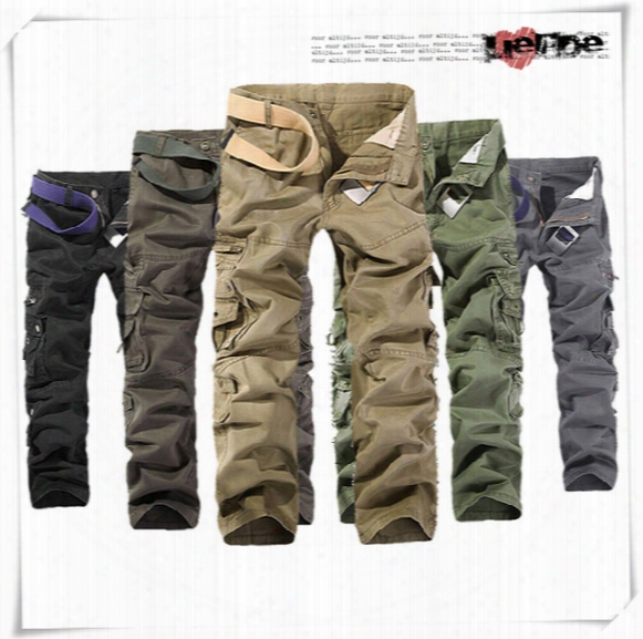 Hot Fashion Men's Cargo Pants Casual Mens Pant Multi Pocket Military Overall Men Outdoors Cheap Long Trousers 30-44 Plus Size Working Sport