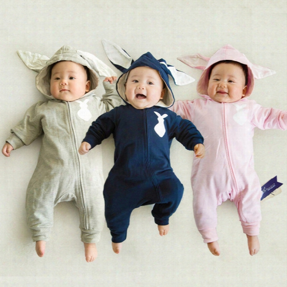 Infant Dress Spring Autumn Baby Rompers Cute Cartoon Rabbit Infant Girl Boy Jumpers Kids Baby Outfits Clothes