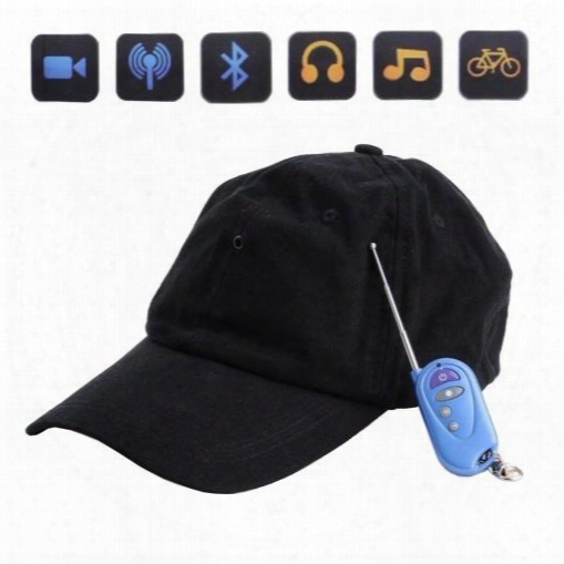 Mini Video Dv Spy Hat With Bluetooth Mp3 Remote Camera Cap Hidden Pinhole Dvr Video Recorder Camcorder Support Tf Card