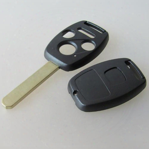 New 3 Button + Panic Car Key Case For Honda 3+1 Button Remote Key Shell Fob Cover