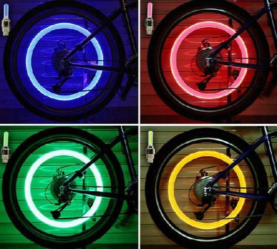 New Bike Wheel Lights Led Flash Light Tyre Wheel Valve Cap Light Bicycle Motorcycle Car Wheel Light Tyre Cycling Led Car Light