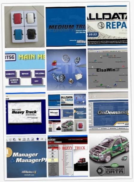 Newest Alldata 10.53+auto Data+mitchell Ondemand5+elsawin+mitchell Ultramate+mitchell Manager Plus + Heavy Truck 49 Software 1tb Hdd All Da