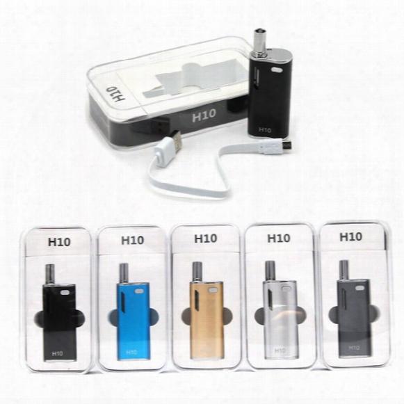 Original Hibron H10 Mini Kit E Cigarette Kits Oil Cartridges 0.8ml Ce3 Tank 650mah 10w Box Mod Kits Portable E Cigs