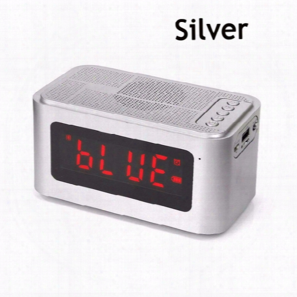 S61 Portable Wireless Bluetooth Speaker Withtime Display&alarm Clock Handsfree Call Support Tf Card For Computer Speakers