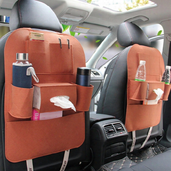 Senior Style Non-woven Multifunction Hanging Organizer Car Seat Back Capacity Storage 55*40cm