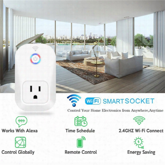 Smart Wifi Power Plug Smart Home Electronic Socket Automation Works With Household Electrical Phone Remote Ce Rohs Fcc Support Alexa