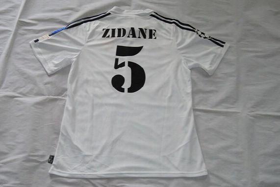 Sport Retro Jersys Zidane Figo Raul Hierro Makã©lã©lã© Roberto Carlos Mcmanaman Morientes 2002 Ucl Final Real Madrid Jerseys