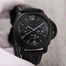 The New Men's Top Watch Black Imported Real Leather Belt 316 Unsullied Steel Shell Automatic Mechanical Movement Diameter 44mm